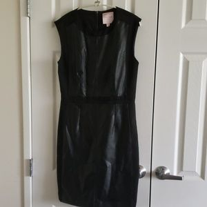 Romeo & Juliet Couture black pleather dress M